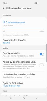 Samsung Galaxy S10 Plus - Internet et connexion - Désactiver la connexion Internet - Étape 6