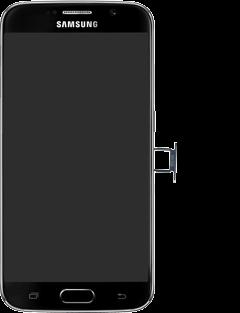 Samsung G920F Galaxy S6 - SIM-Karte - Einlegen - Schritt 3