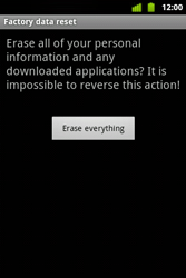 Alcatel OT-983 - Mobile phone - resetting to factory settings - Step 8