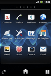 Sony ST27i Xperia Go - Voicemail - Handmatig instellen - Stap 3