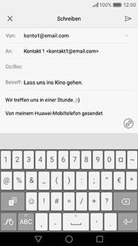 Huawei P9 Plus - E-Mail - E-Mail versenden - 0 / 0