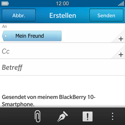 BlackBerry Q10 - E-Mail - E-Mail versenden - 9 / 17