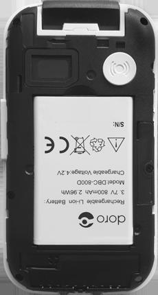 Doro 6620 - Premiers pas - Insérer la carte SIM - Étape 3