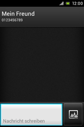 Sony Xperia Miro - MMS - Erstellen und senden - Schritt 10