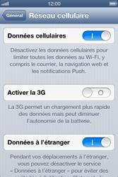 Apple iPhone 4 - Internet et roaming de données - Désactivation du roaming de données - Étape 5