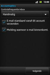 Sony ST27i Xperia Go - E-mail - Handmatig instellen - Stap 13