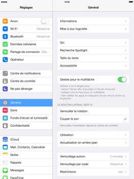 Apple iPad Retina iOS 7 - Applications - Configuration du service iCloud d