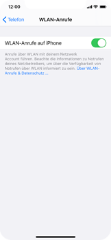 Apple iPhone X - iOS 14 - WiFi - WiFi Calling aktivieren - Schritt 8