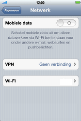 Apple iPhone 4S met iOS 5 (Model A1387) - Internet - Uitzetten - Stap 5