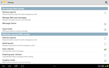 Samsung N8000 Galaxy Note 10-1 - SMS - Manual configuration - Step 5