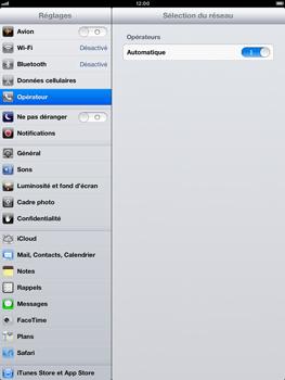 Apple iPad Retina - Réseau - Sélection manuelle du réseau - Étape 6