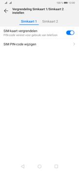 Huawei P30 - Beveiliging - pas de pincode voor je simkaart aan - Stap 8