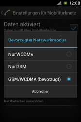 Sony Xperia Miro - Netzwerk - Netzwerkeinstellungen ändern - 0 / 0