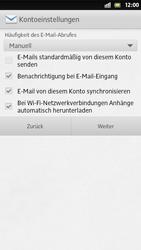 Sony Xperia S - E-Mail - Manuelle Konfiguration - Schritt 14