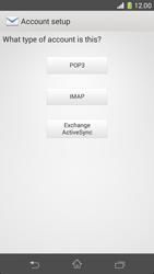 Sony Xperia Z1 Compact - E-mail - manual configuration - Step 7