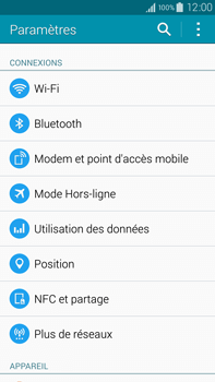Samsung Galaxy Note 4 - Internet et roaming de données - Comment vérifier que la connexion des données est activée - Étape 4