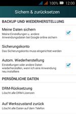 Huawei Y3 - Fehlerbehebung - Handy zurücksetzen - Schritt 6