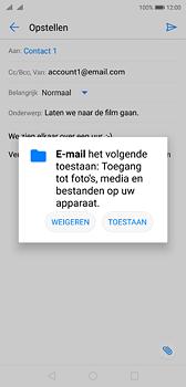 Huawei P20 - e-mail - hoe te versturen - stap 11