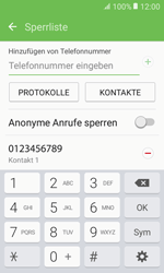 Samsung Galaxy Xcover 3 VE - Anrufe - Anrufe blockieren - 1 / 1