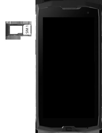 Crosscall Core M4 - Premiers pas - Insérer la carte SIM - Étape 4
