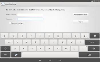 Sony Xperia Tablet Z2 LTE - E-Mail - Konto einrichten - Schritt 6