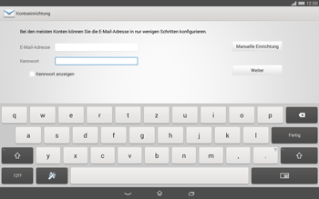 Sony Xperia Tablet Z2 LTE - E-Mail - Manuelle Konfiguration - Schritt 6