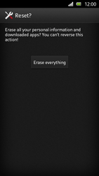 Sony Xperia U - Mobile phone - Resetting to factory settings - Step 7