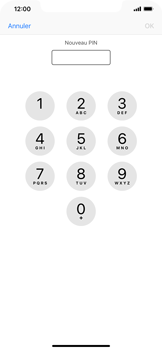 Apple iPhone XR - Sécuriser votre mobile - Personnaliser le code PIN de votre carte SIM - Étape 8
