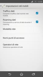 Sony Xperia Z3 Compact - Internet e roaming dati - Disattivazione del roaming dati - Fase 6