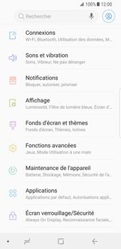 Samsung Galaxy S8 - Android Oreo - Internet et roaming de données - Comment vérifier que la connexion des données est activée - Étape 4