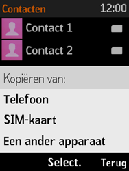 Nokia 3310 3G (TA-1022) - Contacten en data - Contacten kopiëren van SIM naar toestel - Stap 6