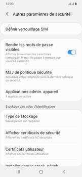 Samsung Galaxy A20e - Sécurité - modifier SIM PIN - Étape 6