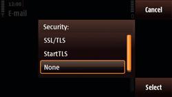 Nokia N97 Mini - E-mail - Manual configuration - Step 15