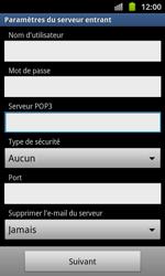 Samsung I8530 Galaxy Beam - E-mail - Configuration manuelle - Étape 9