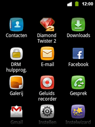 Alcatel OT-903 - E-mail - Hoe te versturen - Stap 3