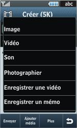 Samsung S8000 Jet - MMS - envoi d'images - Étape 13