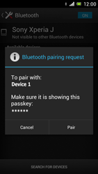 Sony Xperia J - Bluetooth - Connecting devices - Step 7