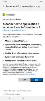 Samsung Galaxy A70 - E-mails - Ajouter ou modifier votre compte Outlook - Étape 9