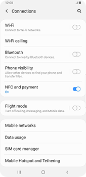 Samsung Galaxy S9 Plus - Android Pie - Internet and data roaming - How to check if data-connectivity is enabled - Step 5