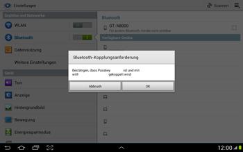 Samsung N8000 Galaxy Note 10-1 - Bluetooth - Geräte koppeln - Schritt 8