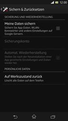 Sony Xperia Z - Fehlerbehebung - Handy zurücksetzen - Schritt 7