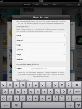 Apple iPad Retina - Apps - Einrichten des App Stores - Schritt 16