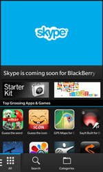 BlackBerry Z10 - Applications - Setting up the application store - Step 3