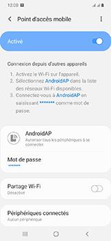 Samsung Galaxy A20e - Internet - comment configurer un point d'accès mobile - Étape 12