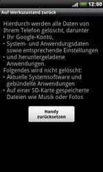 HTC Desire - Fehlerbehebung - Handy zurücksetzen - 2 / 2