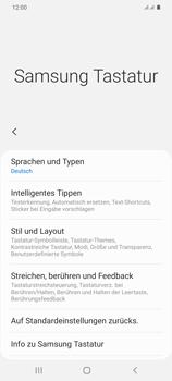 Samsung Galaxy S20 Plus 5G - Startanleitung - So fügen Sie eine Tastatursprache hinzu - Schritt 8