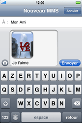 Apple iPhone 3G - MMS - envoi d'images - Étape 12