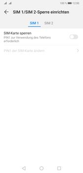 Huawei P20 Pro - Android Pie - Startanleitung - So aktivieren Sie eine SIM-PIN - Schritt 7