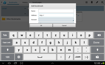 Samsung Galaxy Tab 2 10.1 - Internet and data roaming - Using the Internet - Step 10