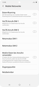 Samsung Galaxy A51 - Netzwerk - Manuelle Netzwerkwahl - Schritt 6